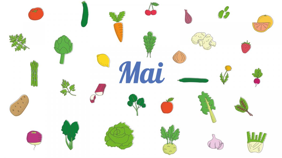 Les fruits et légumes à consommer en mai