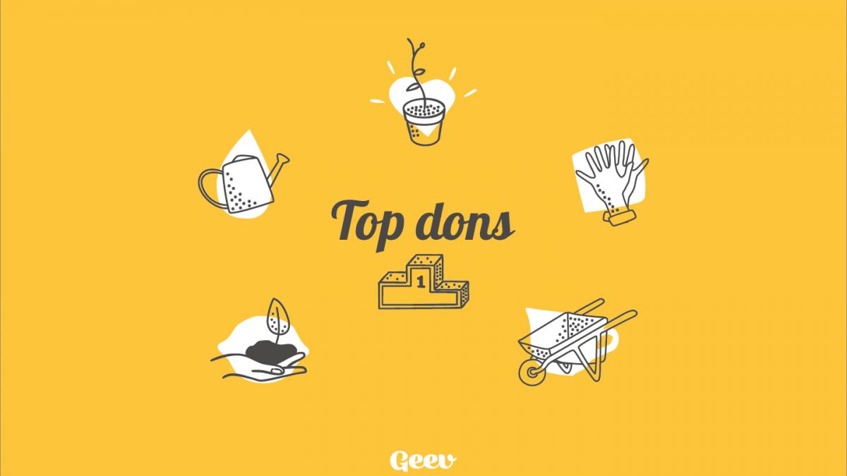 Jardinage : top 5 des dons sur Geev, pour un jardin 100% gratuit