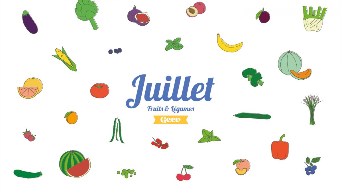Les fruits et légumes à consommer en juillet
