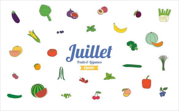 fruits et légumes à consommer en juillet