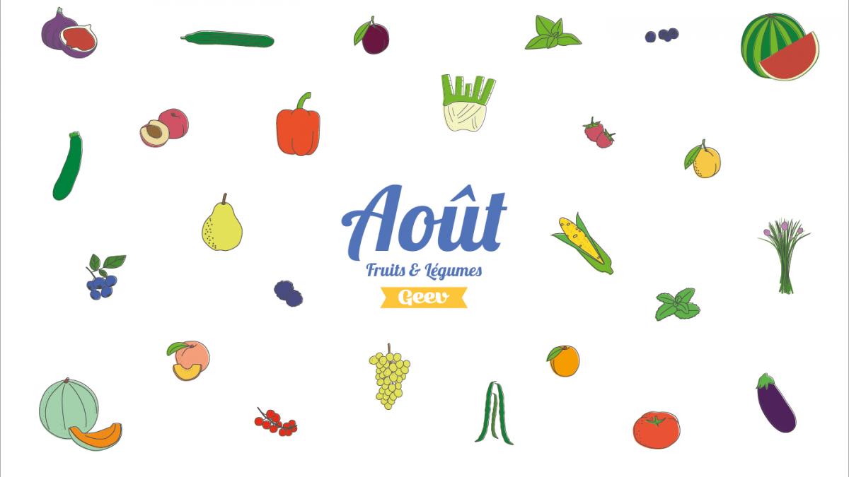 Les fruits et légumes à consommer en août