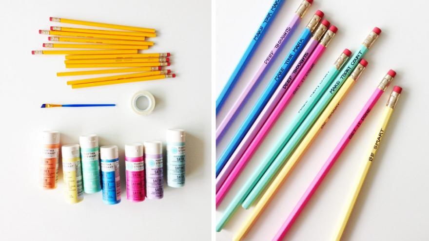 Crayon customisés à la peinture, DIY
