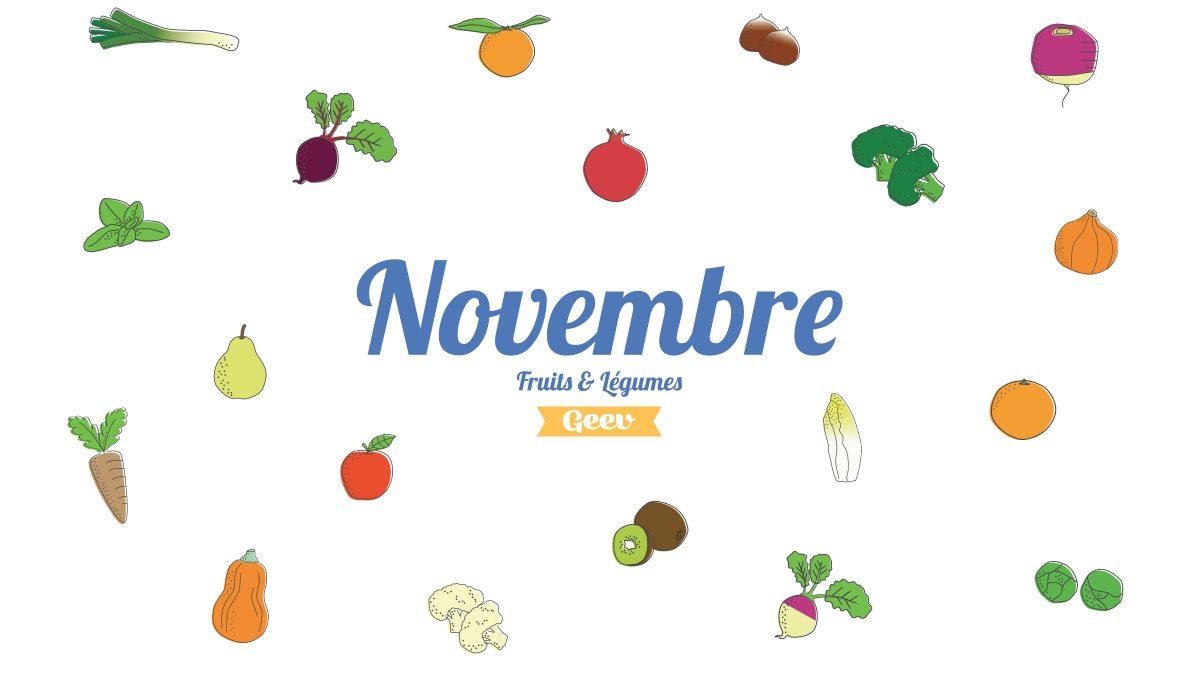 Les fruits et légumes à consommer en novembre