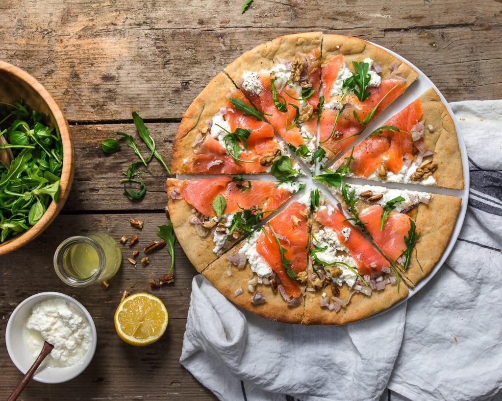 pizza au saumon fumé astuces anti-gaspi après Noël