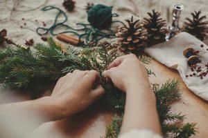 pomme de pin bricolage déco éco-résponsable Noël