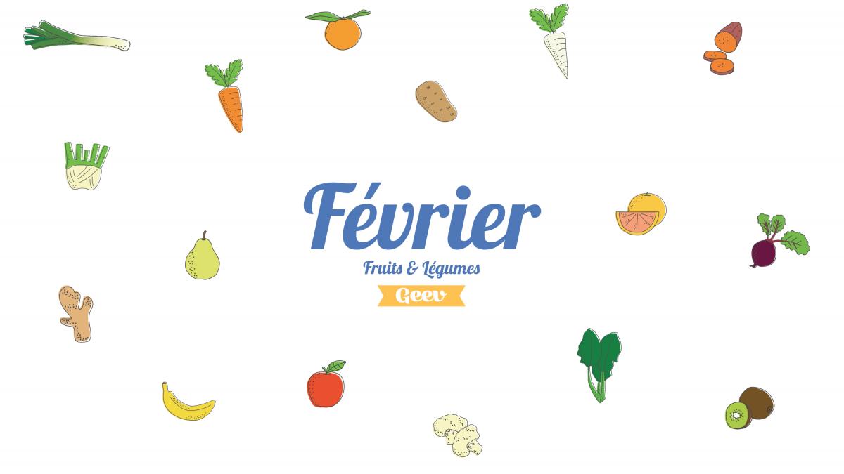 Les fruits et légumes à consommer en février