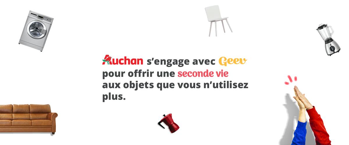 Auchan et Geev : ensemble contre le gaspillage des objets !