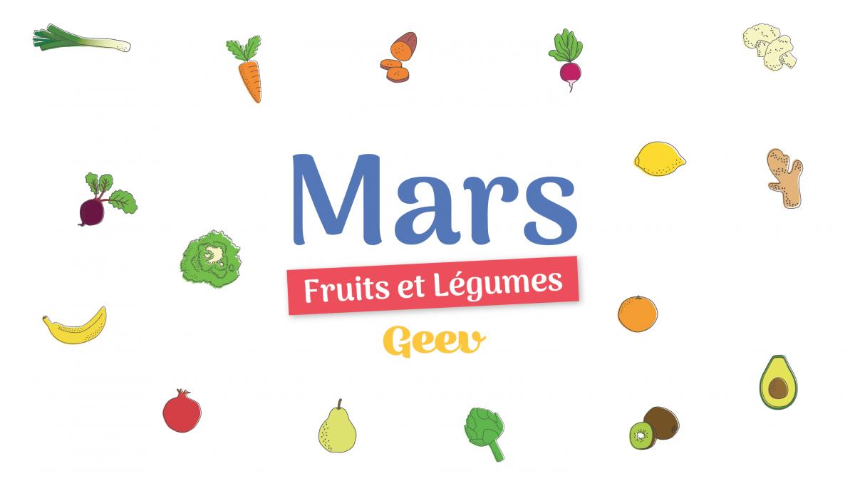 Les fruits et légumes à consommer en mars