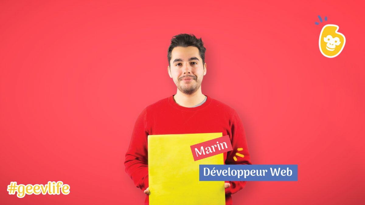 Marin, notre développeur Web passionné et passionnant !